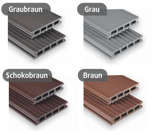 Kovalex deski kompozytowe 26x145 mm standard matowione paleta kolorów